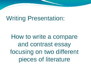 Good compare and contrast thesis